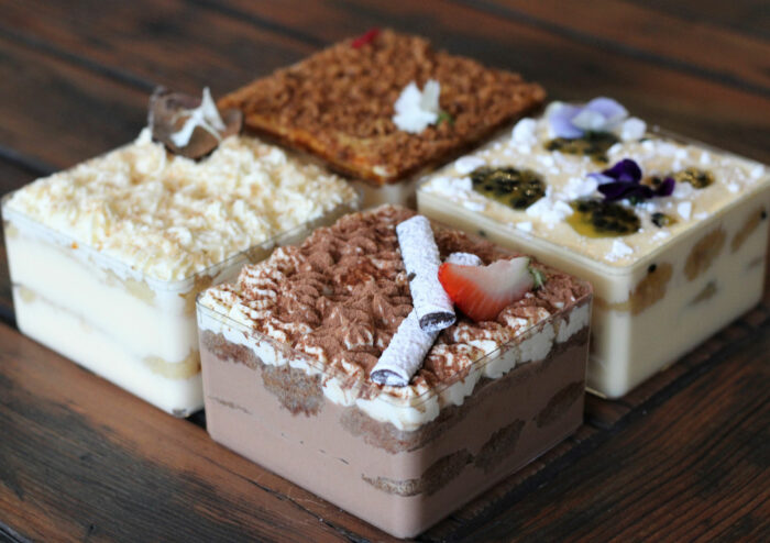 Grazing Boxes Sydney - Albimisú - Box of 2 or 4 (depending on size choice) individual tiramisu with the flavours of your choice.