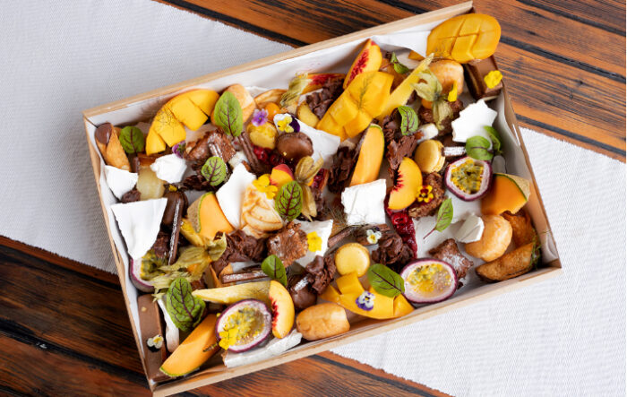 Grazing Boxes Sydney - Kiwi be Friends - Variety of seasonal & exotic fruit and House made Italian Sweets